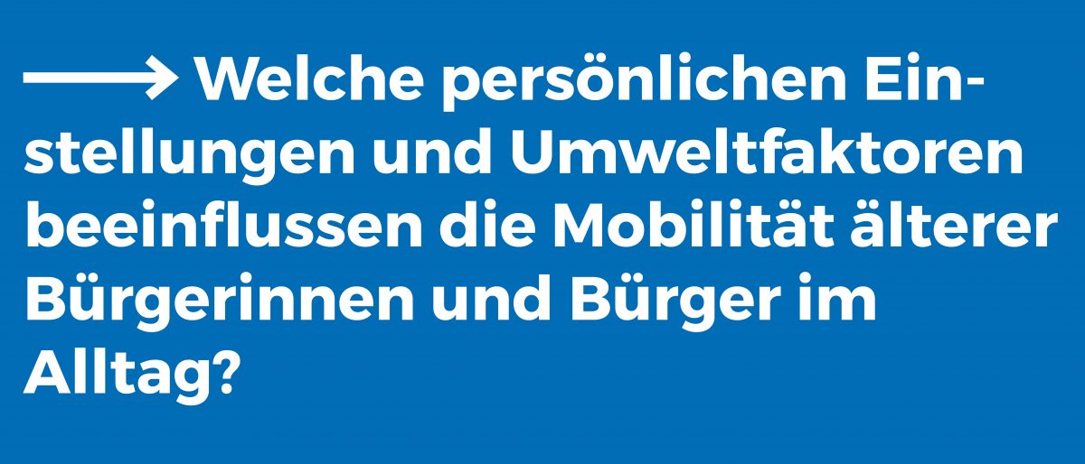 Reallabor für nachhaltige Mobilitätskultur - Mobilität und Alltagsaktivität